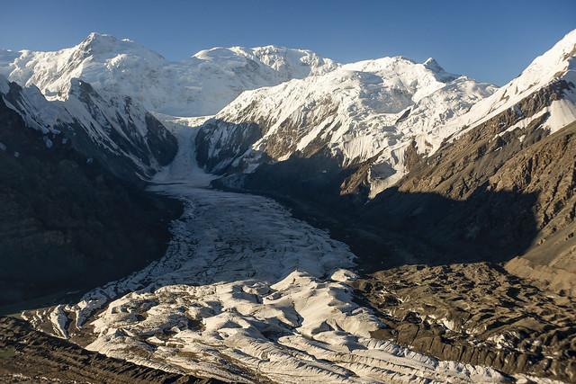 Inylchek glacier and Khan Tengri