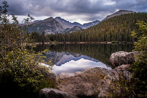 cloudy morning at bear lake | by Christian Collins