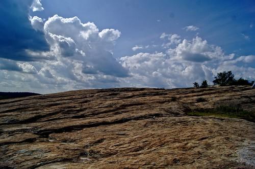 mountain stone sky clouds hike georgia granite