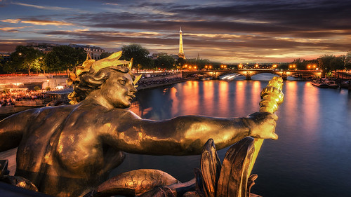 bridge sunset paris night iii ponte alexander alessandro parigi