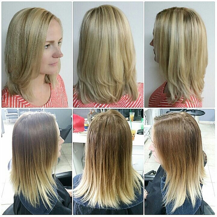 Ombre Reversal Full Highlights And Balayage Ombre Reversal