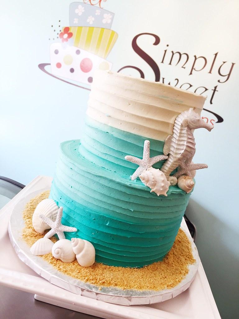 Beach Mermaid Seahorse Cake A Photo On Flickriver