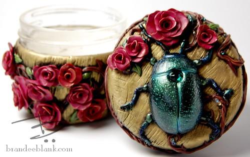 Beetle & Rose Stash Jar