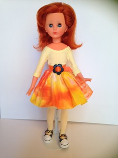 Corinne doll-carrot red hair-Italocremona 1965