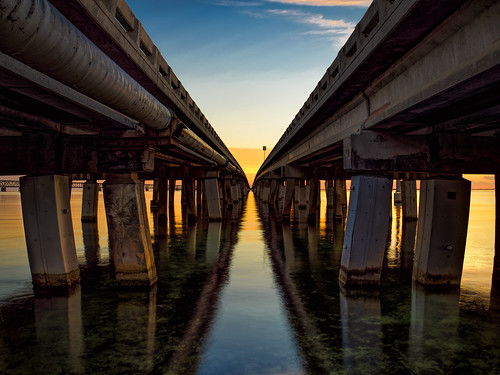 usa landscape bahiahonda water hires ©edrosack panorama florida road thekeys olympus buildingandarchitecture highres sky ocean sign calm sunset bridge dusk bahiahondakey floridakeys edrosackcom