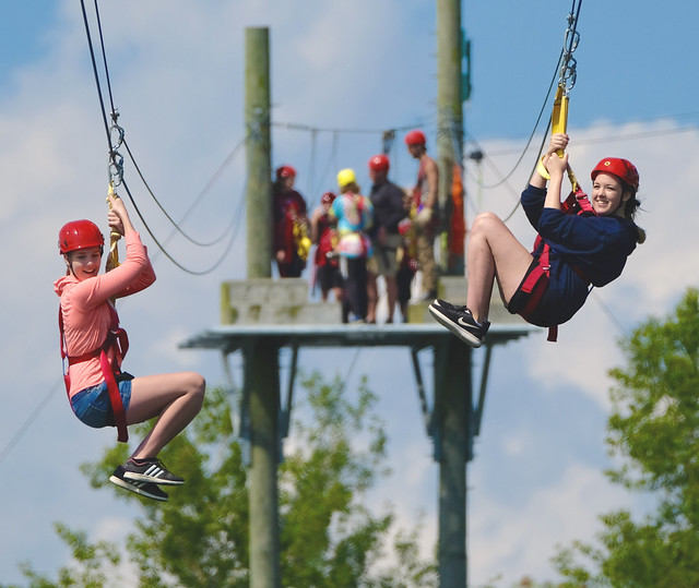 Zip lining fun!