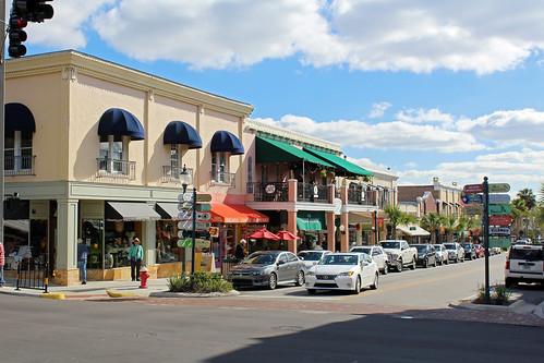 cityscape downtown businessdistrict commercialbuildings architecture street mountdora florida