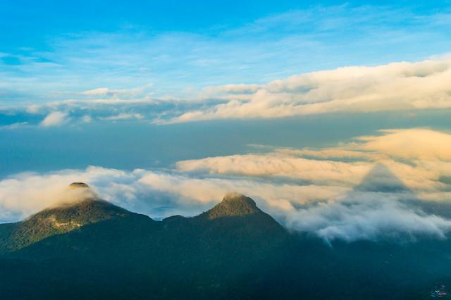 2 Peaks & shadow of sacred sripada