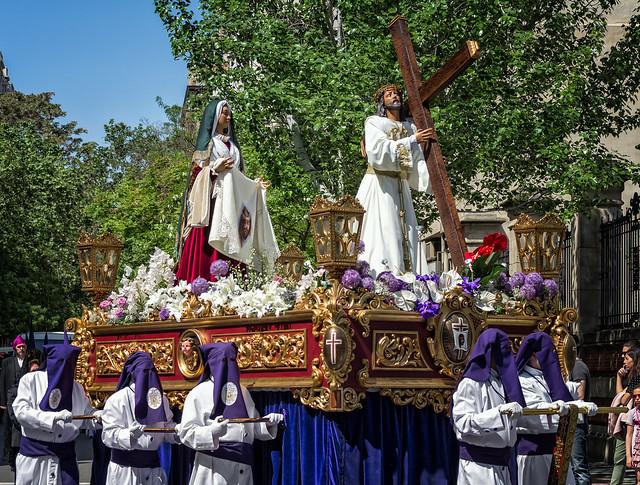 Semana Santa Zaragoza 2017 - Jueves Santo - Cofradía de Cristo Abrazado a la Cruz y de la Verónica
