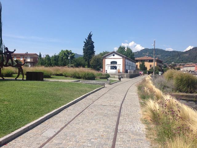 New park on disused railway, Paratico