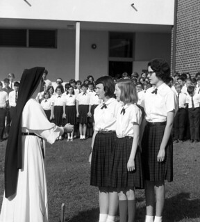 Blessed Sacrament School choir practice in Tallahassee