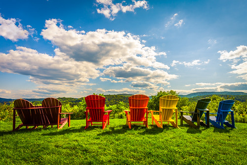 adirondackchairs outdoor outdoorfurniture colorful colourful contrast vivid landscape clouds sky bright sunny nikon d610 2018g sharon vermont vt unitedstatesofamerica usa sharonrestarea vermontwelcomecenter rural fav10 fav25 fav50