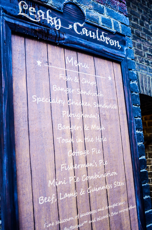 Leaky Cauldron menu US