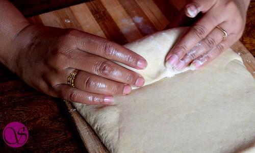 Honey Buttermilk Bread dough shaping