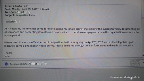 Resignation Letter | by wanderingjatin