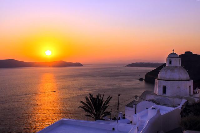 Sunset Fira