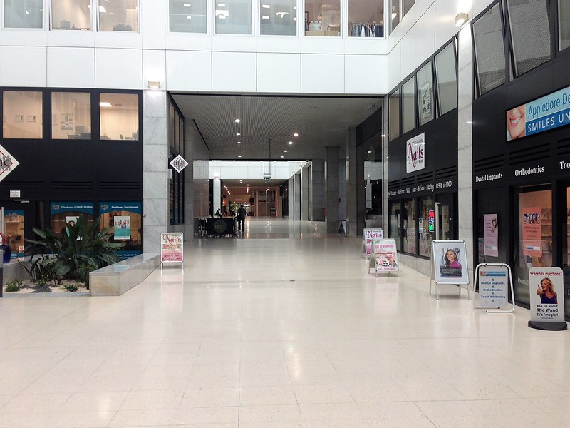 Inside shopping arcade, Milton Keynes