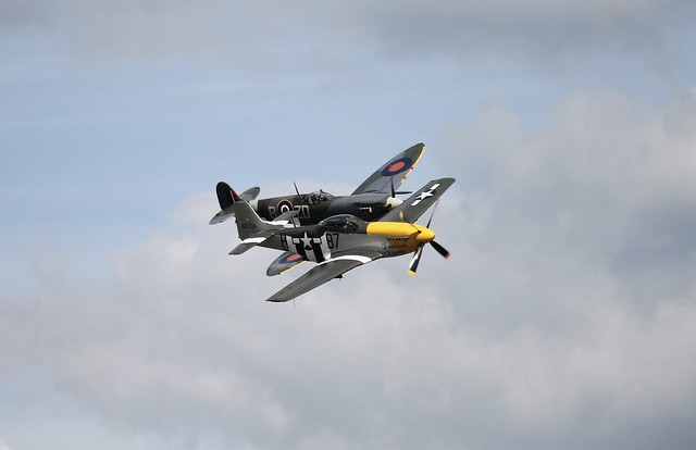 Supermarine Spitfire IX MH434 and North American P-51D Mustang Ferocious Frankie