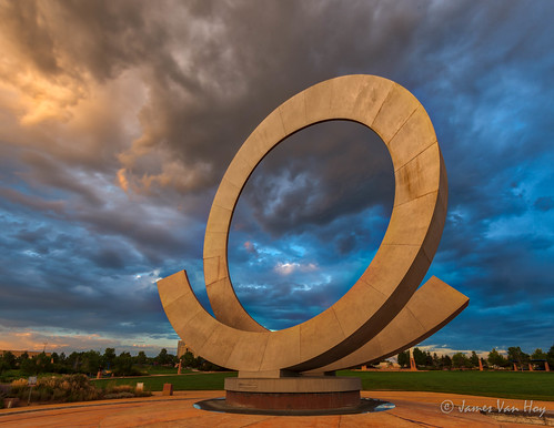 colorado americathebeautifulpark juliepenrosefountain storm sunset coloradosprings clouds