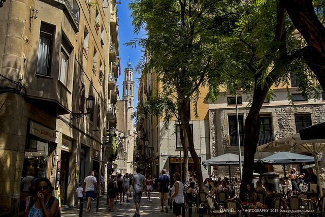 Santa María del Mar desde la carrer de la Argentería