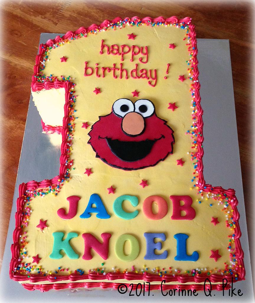 Elmo Themed 1st Birthday Cake