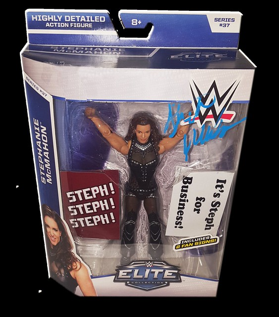Stephanie McMahon Autographed Mattel WWE ELITE COLLECTION Series 37 Figure
