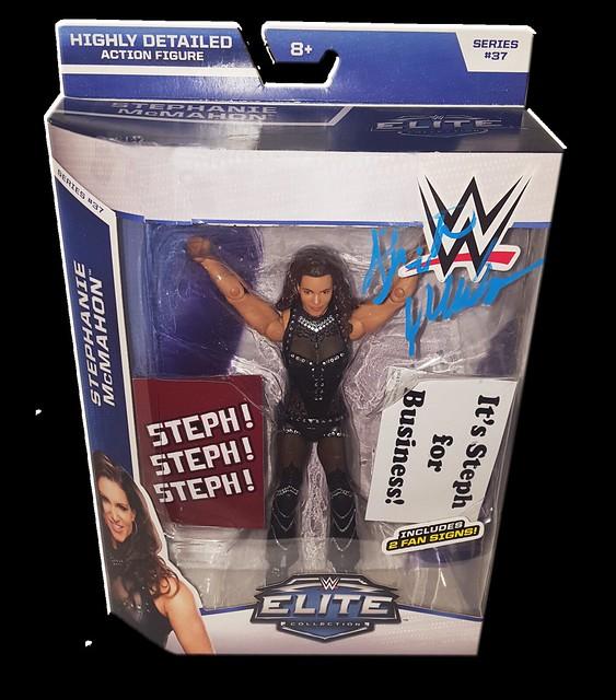 Stephanie McMahon Autographed Mattel WWE ELITE COLLECTION Series 37 Figure