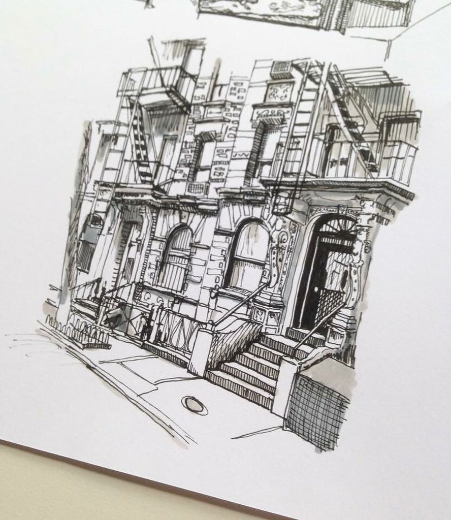 Greenwich village nyc ✍ art drawing pen sketch illustration linedrawing