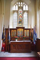 south aisle chapel reredos (Eleanor Gribble, 1921)