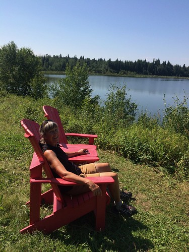 Elk Island Linda in red chairs | by Pierre Yeremian