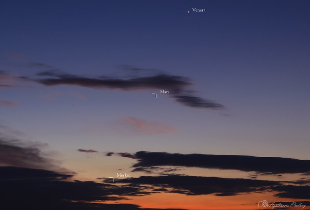 Venus, Mars, Mercury
