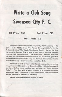 1972-07-22    -2   Burnley (friendly) Wite a Club Song Swansea City FC | by Swans100: 100 Years of Swansea City FC
