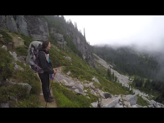 3058 GoPro panorama video from the Cloudy Pass Hiker Shortcut Trail
