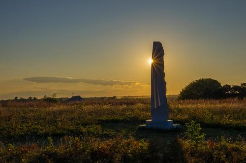 laudholm laudholmfarm maine wells wellsreserve goldenhour summer sculpture sun sunset shadow