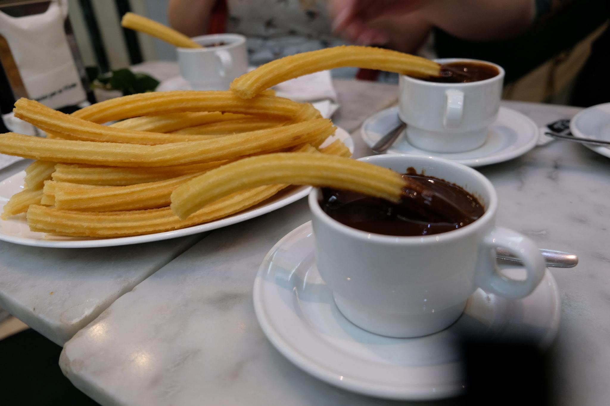 Churros Con Chocolate | Tapas in Madrid