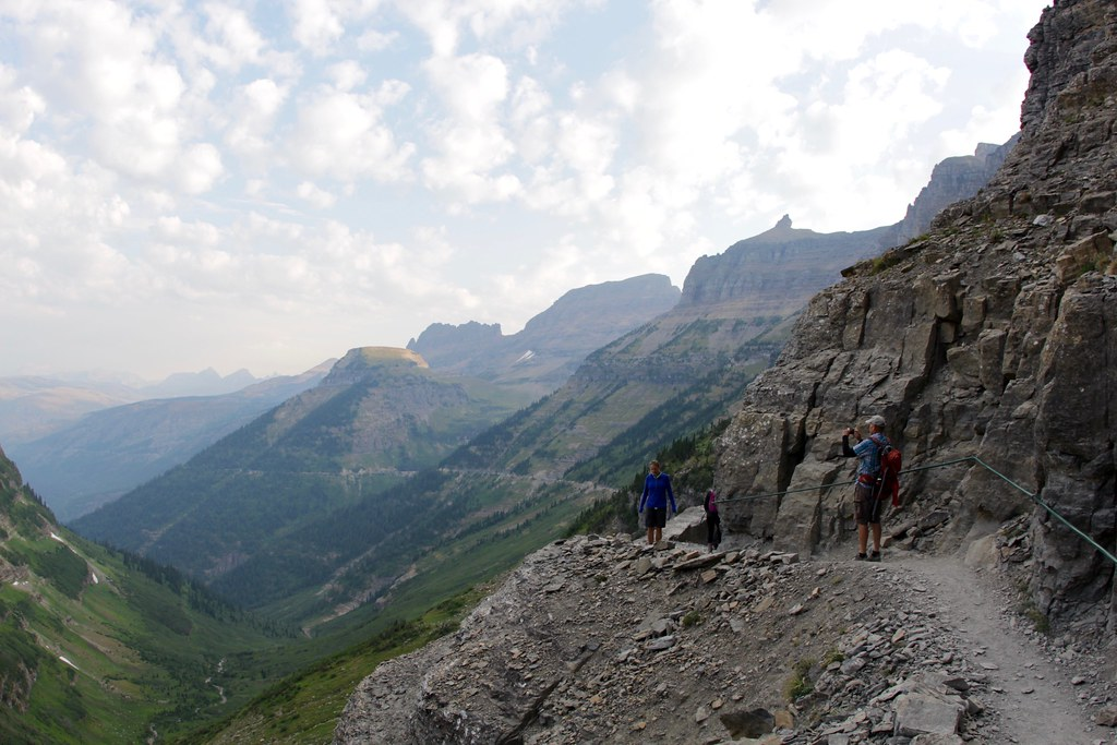 Hikers By The Garden Wall Highline Trail Glacier Nationa Flickr