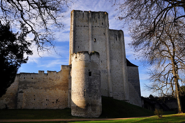Château de Loches ((Castle of Loches), Indre-et-Loire in the Loire valley - France