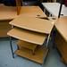 Beech pc desk metal frame  E25