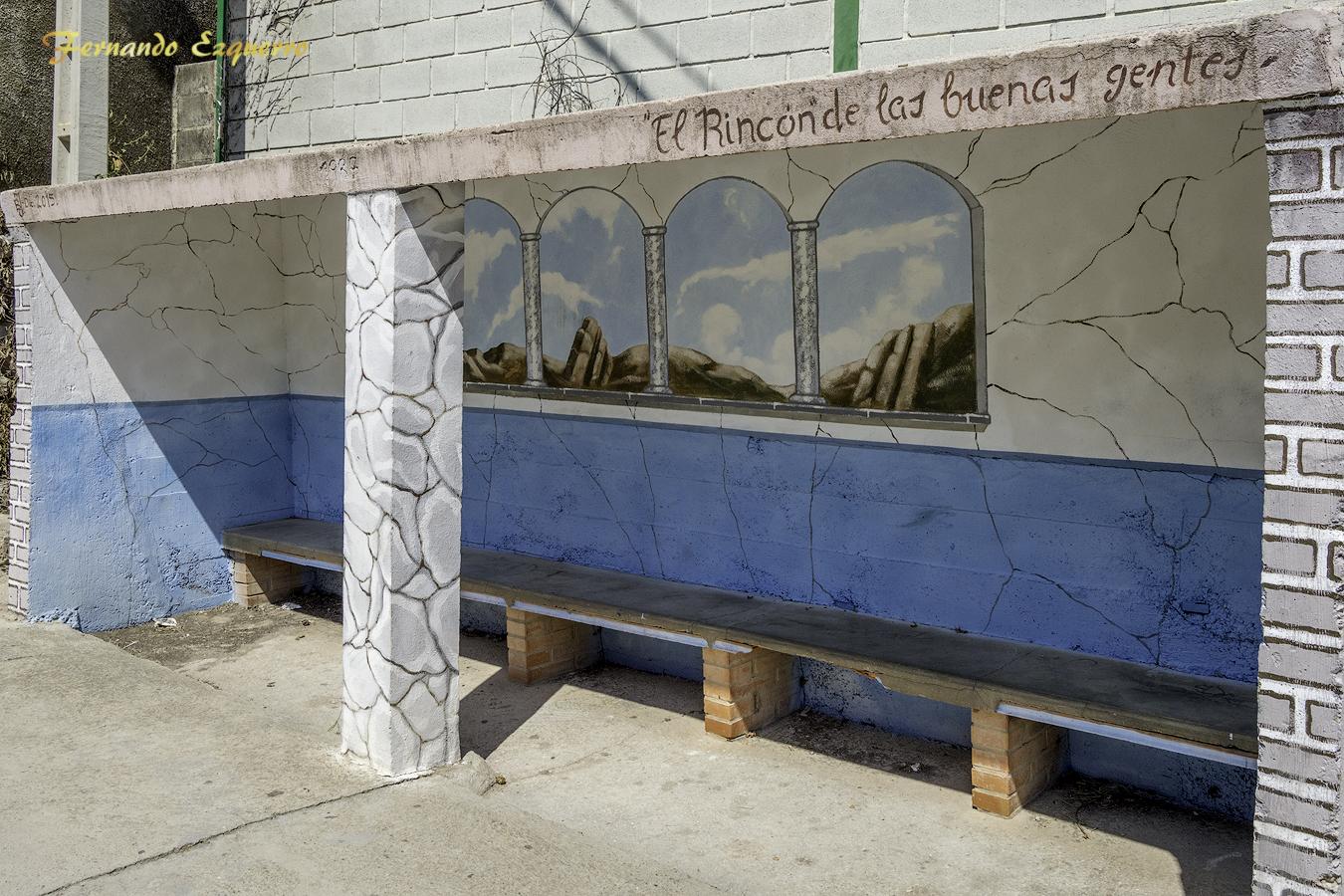 Arte en las fachadas de Almonacid de la Cuba