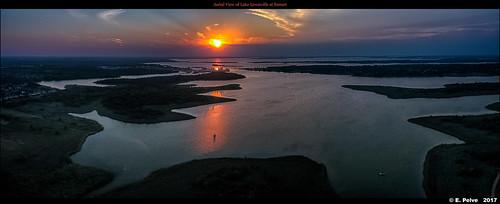 djiphantom4professional fall2017 texas aerialview sunset lakelewisville thecolony unitedstates us