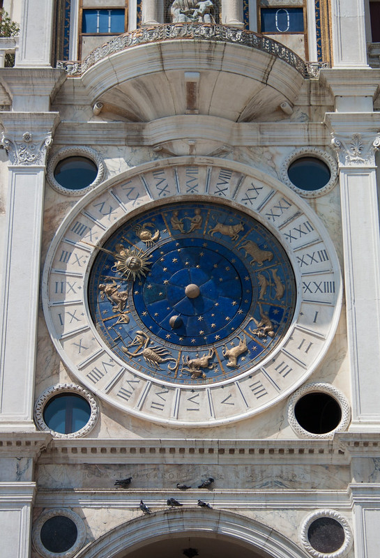 An image of the astrological clock in the Piazza San Marco in Venice, by Icy Sedgwick.