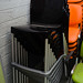 Indoor outdoor stacking stool black E50