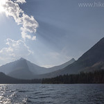 Two Medicine Lake from the boat