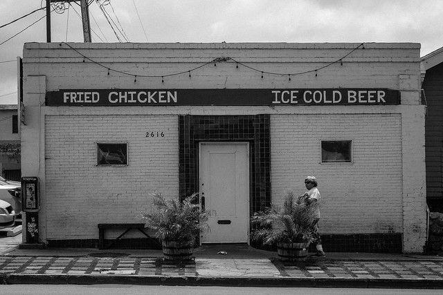 Fried chicken, ice cold beer
