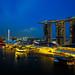 Marina Bay Sands Aerial Drone Shot