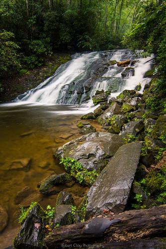 greatsmokymountains indiancreekfalls northcarolina summer creek landscape longexposure water waterfall