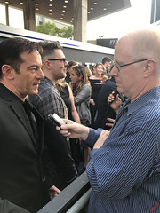 Jason Isaacs being interviewed at the Star Trek Discovery Premiere - IMG_0050
