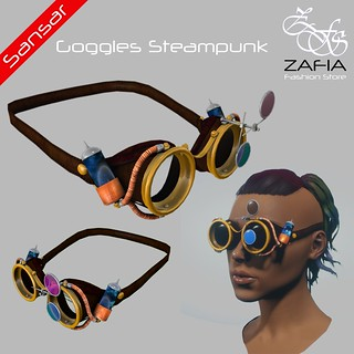 ZAFIA Goggles Steampunk Female Sansar   by ZAFIA Fashion Store-METAPHOR
