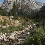 Grand Teton and Cascade Creek in Cascade Canyon