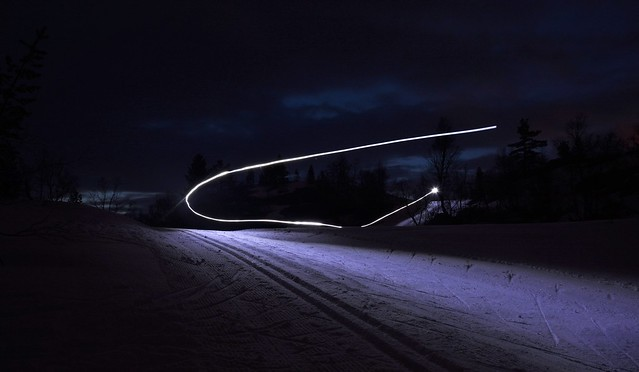 Skier with headlamp (2)